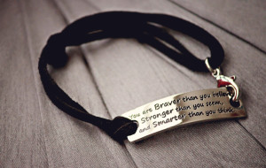 Inspirational bracelet from Modern and Chick Boutique