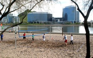 Tempe Beach Park volleyball courts