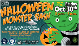 Halloween Monster Bash Flier Peoria AZ 2015