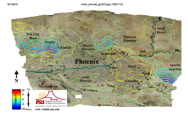 ASU map of fissures in Greater Phoenix 2015